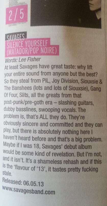 Savages (May 13)