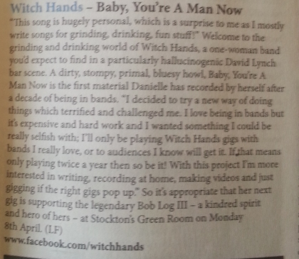 Witch Hands (Narc CD Piece, April 13)