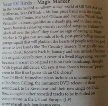 Year Of Birds (Narc CD Piece, April 13)