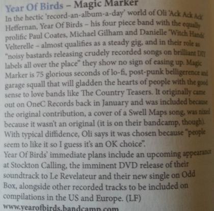 Year Of Birds (Narc CD Piece, April 13)