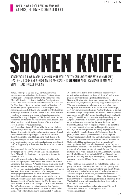 Shonen Knife APril 2016